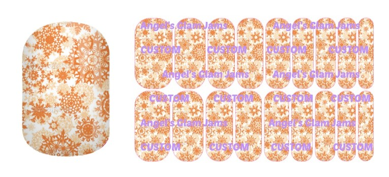 Copper Snowflakes Jamberry Nail Wraps by Angel's Glam Jams