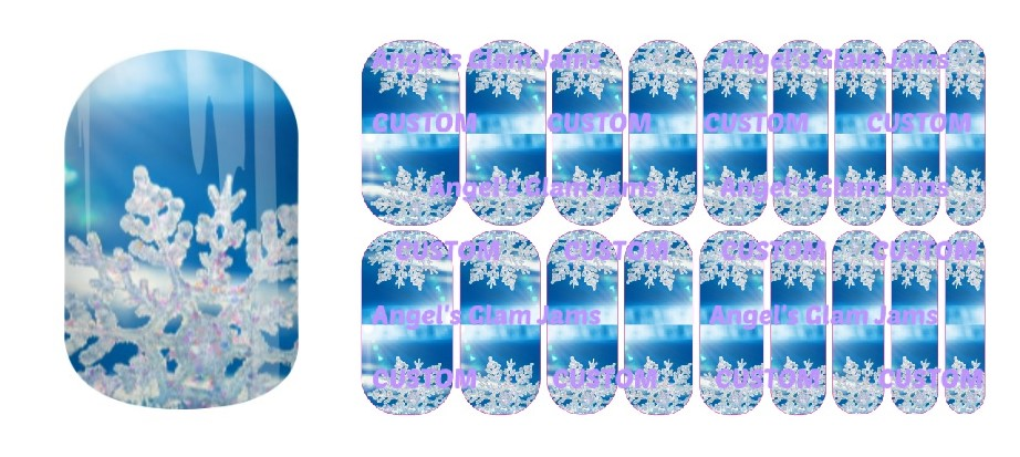 Sparkling Snowflakes Jamberry Nail Wraps by Angel's Glam Jams