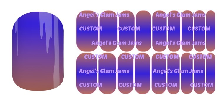 Dusk Ombre Jamberry Nail Wraps by Angel's Glam Jams