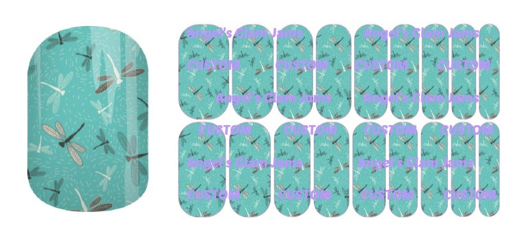 Dragonfly Dazzle Jamberry Nail Wraps by Angel's Glam Jams