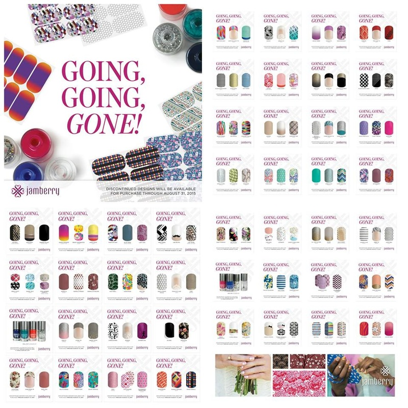 Jamberry Going, Going, GONE August 31, 2015