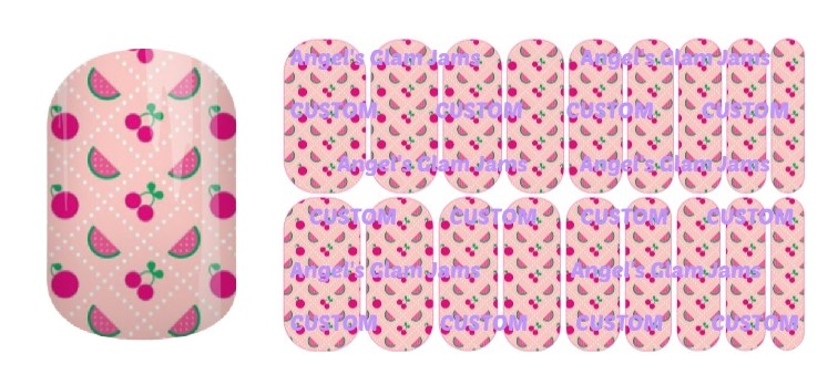 Cute Fruits Jamberry Nail Wraps by Angel's Glam Jams