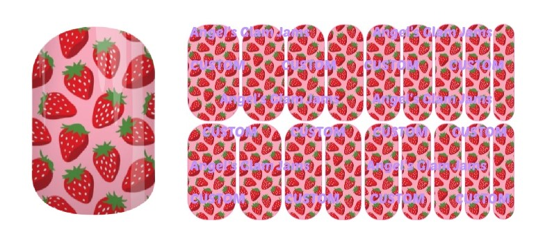 Sweet Strawberries Jamberry Nail Wraps by Angel's Glam Jams