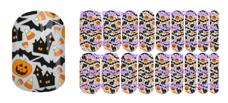 Halloween Haunted Houses Jamberry Nail Wraps by Angel's Glam Jams
