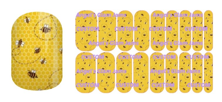 Oh Bee Hive Jamberry Nail Wraps by Angel's Glam Jams