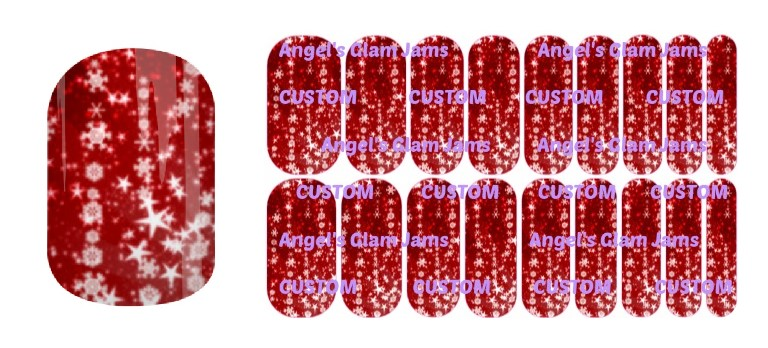 Holiday Red Sparkle Jamberry Nail Wraps by Angel's Glam Jams