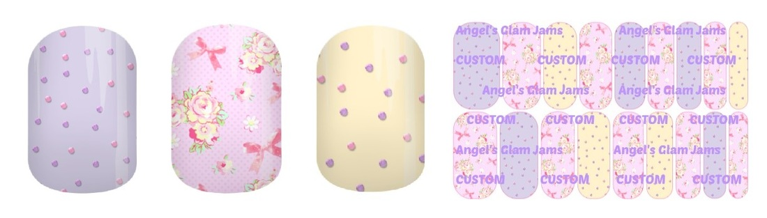 Darling Garden Jamberry Nail Wraps by Angel's Glam Jams