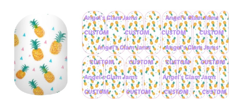 Pineapple Party Jamberry Nail Wraps by Angel's Glam Jams