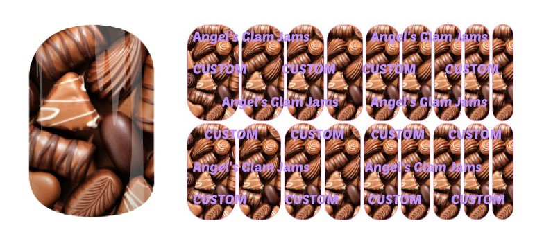 Chocolate Lover Jamberry Nail Wraps by Angel's Glam Jams