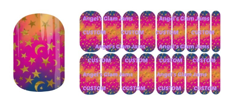 Golden Sky Jamberry Nail Wraps by Angel's Glam Jams