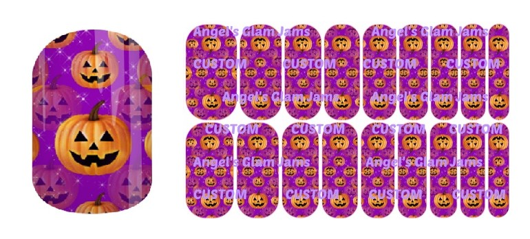 Jest Jack Purple Jamberry Nail Wraps by Angel's Glam Jams