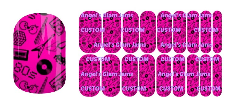 Awesome '80's Chick Jamberry Nail Wraps by Angel's Glam Jams