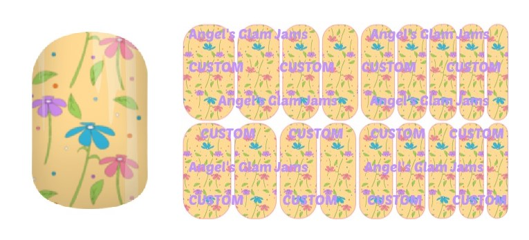 Spring Flowers Jamberry Nail Wraps by Angel's Glam Jams