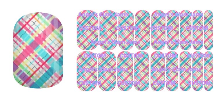 Spring Plaid Jamberry Nail Wraps by Angel's Glam Jams
