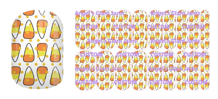 Candy Corn Crazy Jamberry Nail Wraps by Angel's Glam Jams