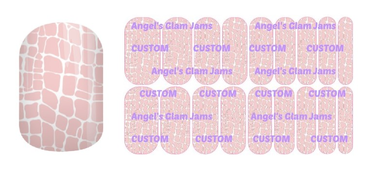 Conservative Crackle Jamberry Nail Wraps by Angel's Glam Jams