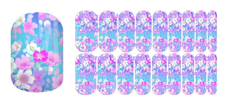 Beaming Blooms Jamberry Nail Wraps by Angel's Glam Jams