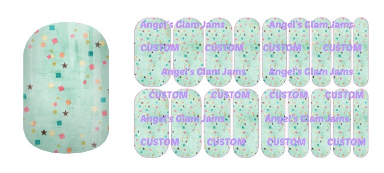 Christmas Confetti Jamberry Nail Wraps by Angel's Glam Jams