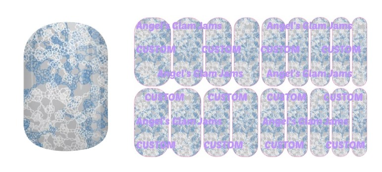 Soft Snowflakes Jamberry Nail Wraps by Angel's Glam Jams