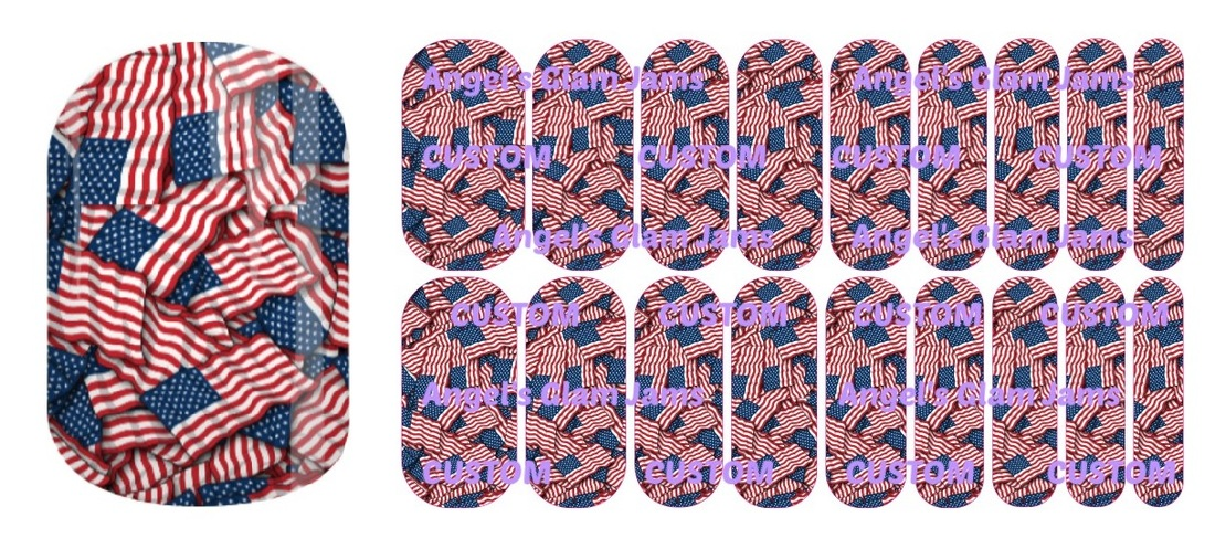 American Flag Palooza Jamberry Nail Wraps by Angel's Glam Jams