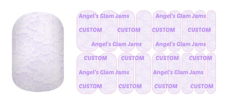 Lavender Lace Jamberry Nail Wraps by Angel's Glam Jams