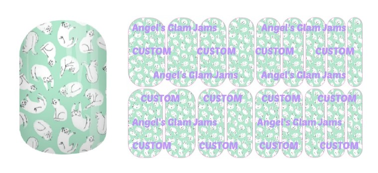 Catty Jamberry Nail Wraps by Angel's Glam Jams