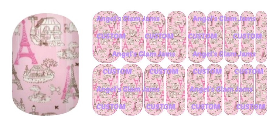 Paris Pink Jamberry Nail Wraps by Angel's Glam Jams