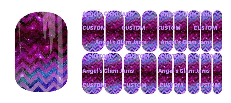 Chevron Glimmer Jamberry Nail Wraps by Angel's Glam Jams