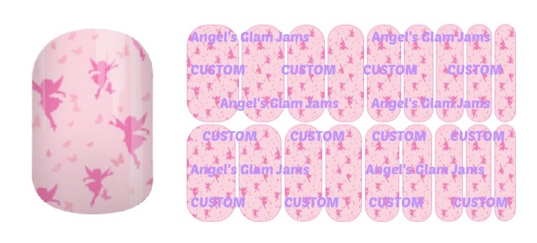Fluttering Fairies Jamberry Nail Wraps by Angel's Glam Jams