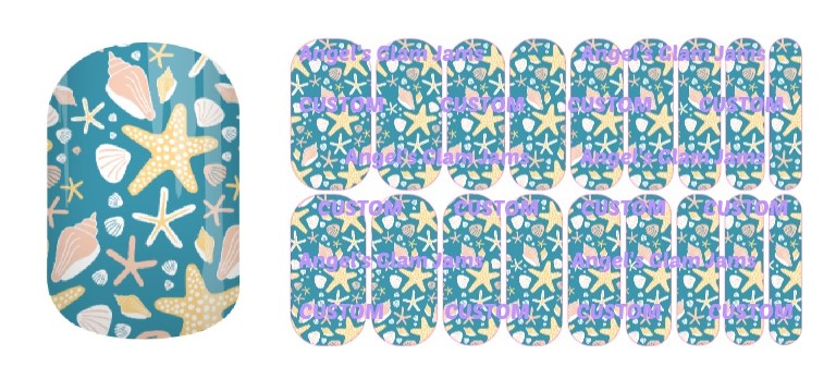 Seashell Soiree Jamberry Nail Wraps by Angel's Glam Jams