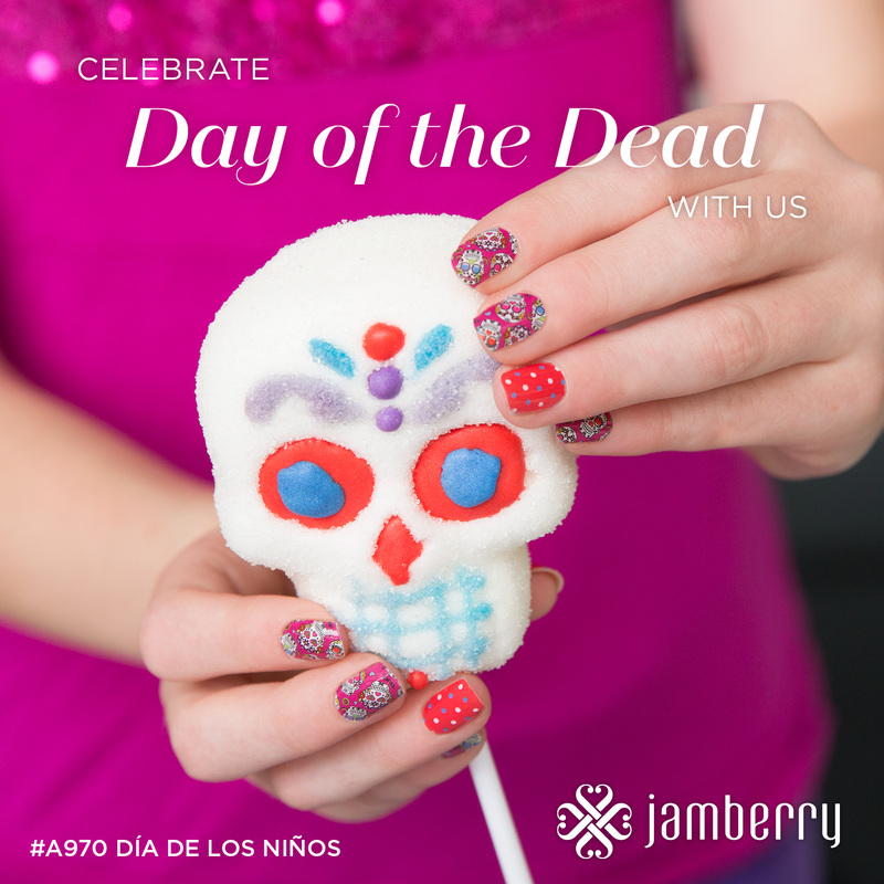 Dia de los Muertos Jamberry Nail Wraps and Photo Contest - Angel\'s ...