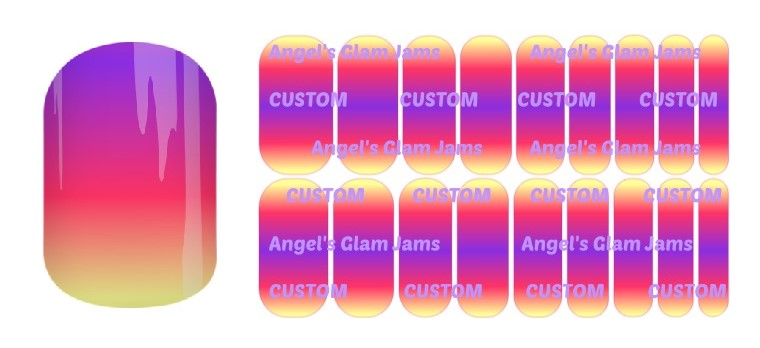 Sunset Ombre Jamberry Nail Wraps by Angel's Glam Jams