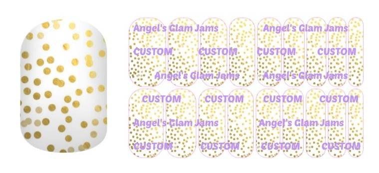 Gold Champagne Bubbles Jamberry Nail Wraps by Angel's Glam Jams