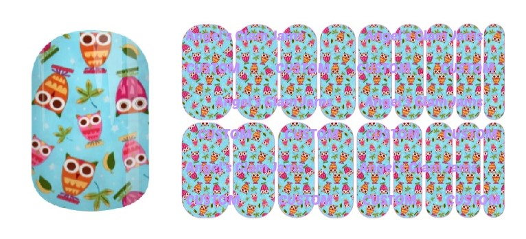 Hoot Jamberry Nail Wraps by Angel's Glam Jams