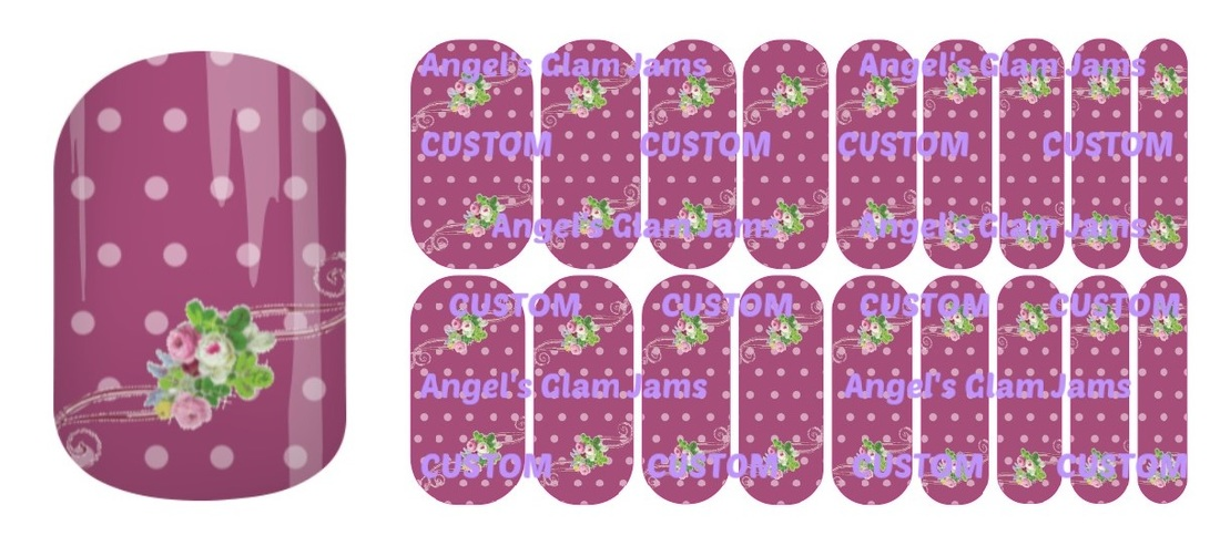 Mauve Medley Jamberry Nail Wraps by Angel's Glam Jams