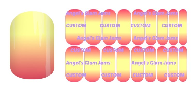 Sunrise Ombre Jamberry Nail Wraps by Angel's Glam Jams
