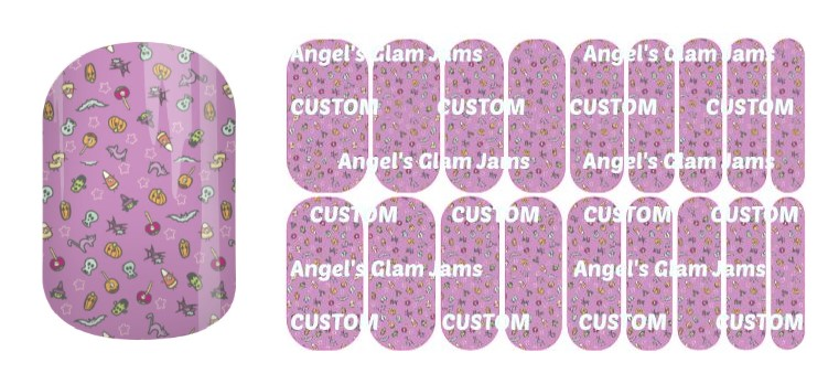 Halloween Tricks and Treats Jamberry Nail Wraps by Angel's Glam Jams
