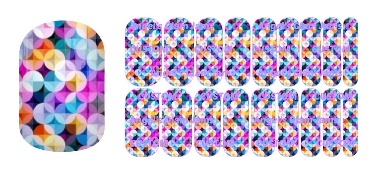 Circle Celebration Jamberry Nail Wraps by Angel's Glam Jams