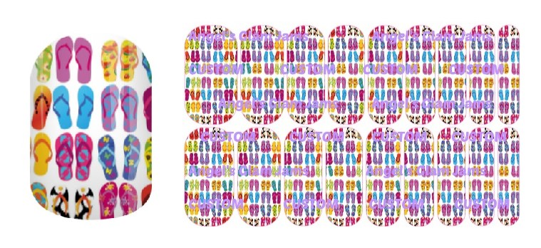 Fabulous Flip-Flops Jamberry Nail Wraps by Angel's Glam Jams