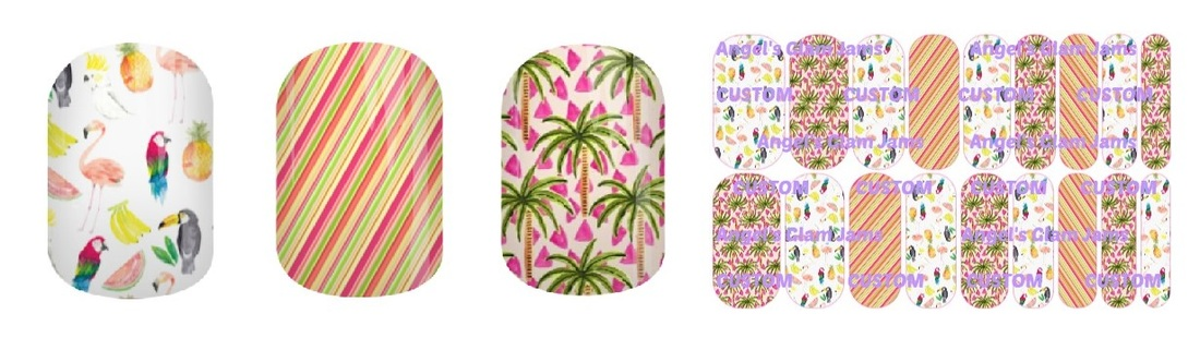 Paradise Pretty Jamberry Nail Wraps by Angel's Glam Jams