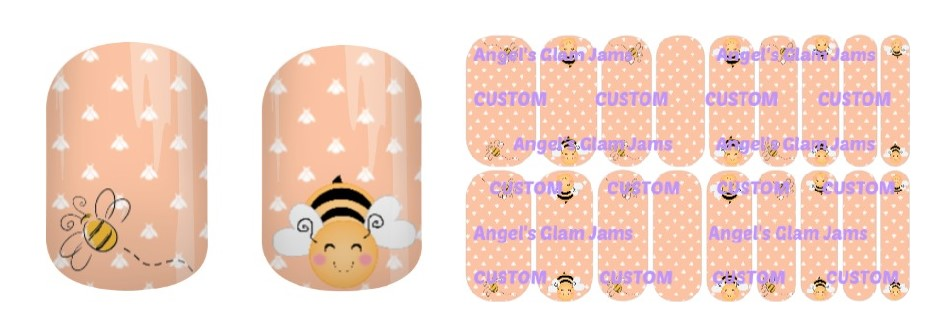 Bee Happy Jamberry Nail Wraps by Angel's Glam Jams