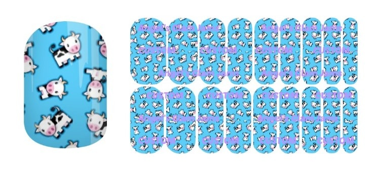 Cow Cutie Jamberry Nail Wraps by Angel's Glam Jams