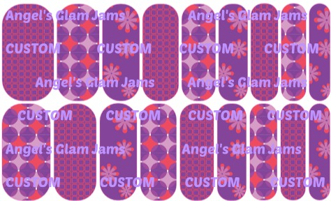 Funky Purple Jamberry Nail Wraps by Angel's Glam Jams