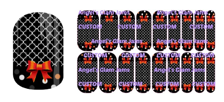 Halloween Darling Jamberry Nail Wraps by Angel's Glam Jams