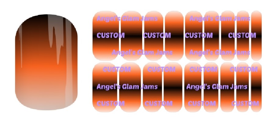 Halloween Ombre Jamberry Nail Wraps by Angel's Glam Jams