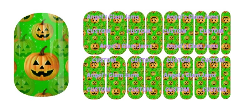 Jest Jack Green Jamberry Nail Wraps by Angel's Glam Jams