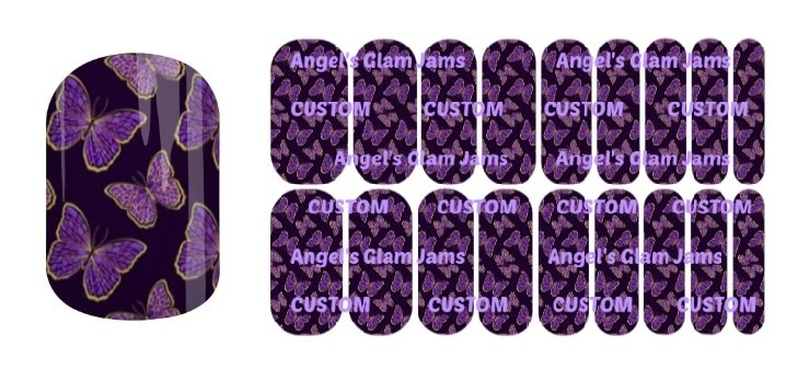 Majestic Butterflies Jamberry Nail Wraps by Angel's Glam Jams