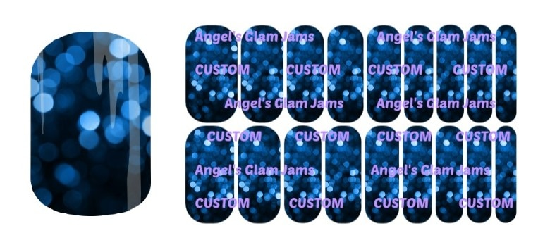 Midnight Lights Jamberry Nail Wraps by Angel's Glam Jams