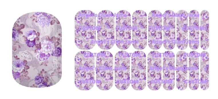 Purple Bouquet Jamberry Nail Wraps by Angel's Glam Jams