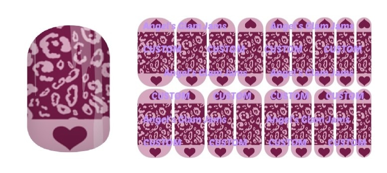Sassy Purple Jamberry Nail Wraps by Angel's Glam Jams